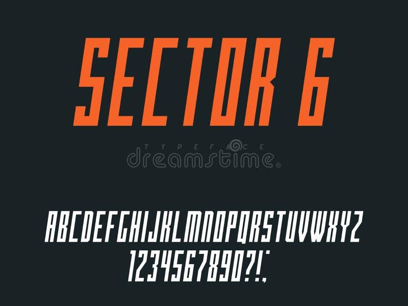 Латинские uppercase письма и номера алфавита также вектор иллюстрации притяжки corel бесплатная иллюстрация