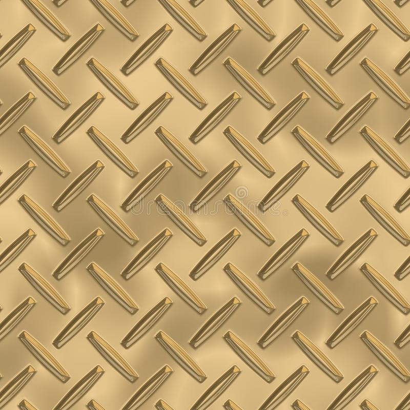 Латунная металлопластинчатая безшовная текстура бесплатная иллюстрация