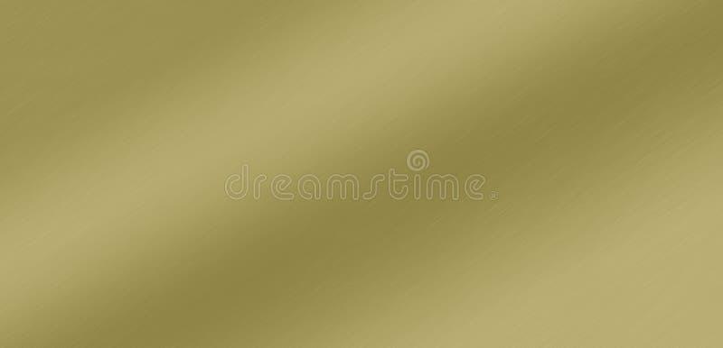 Латунная почищенная щеткой предпосылка градиента металла сатинировки стоковое фото rf