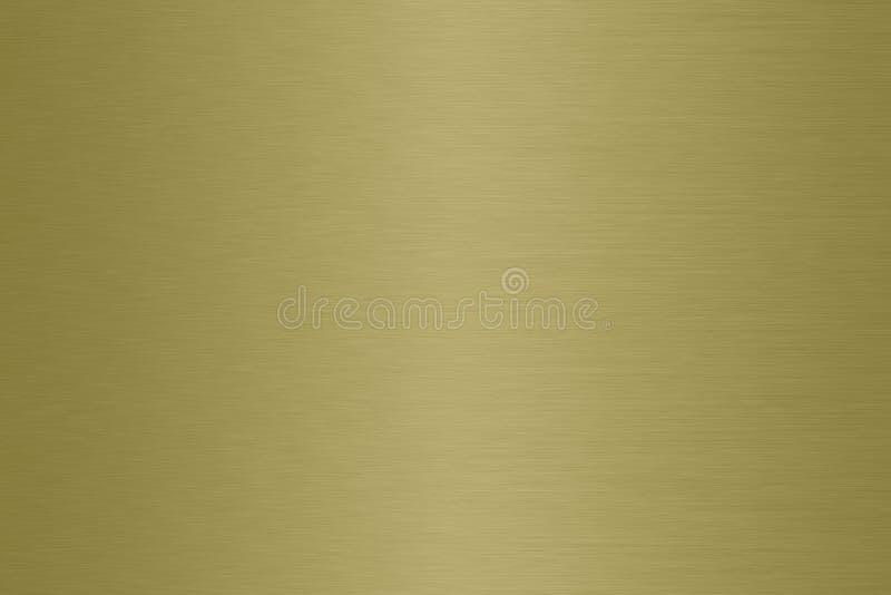 Латунная почищенная щеткой предпосылка градиента металла сатинировки стоковая фотография rf
