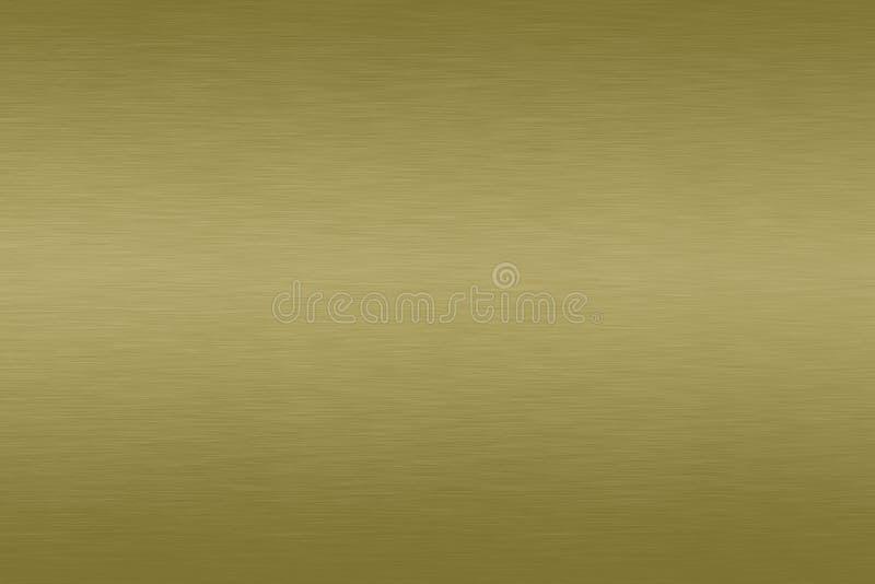 Латунная почищенная щеткой предпосылка градиента металла сатинировки стоковые изображения rf