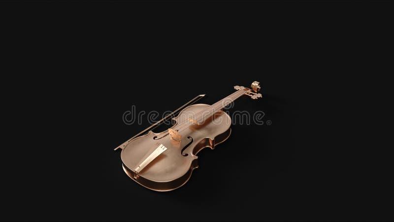 Латунная скрипка иллюстрация штока