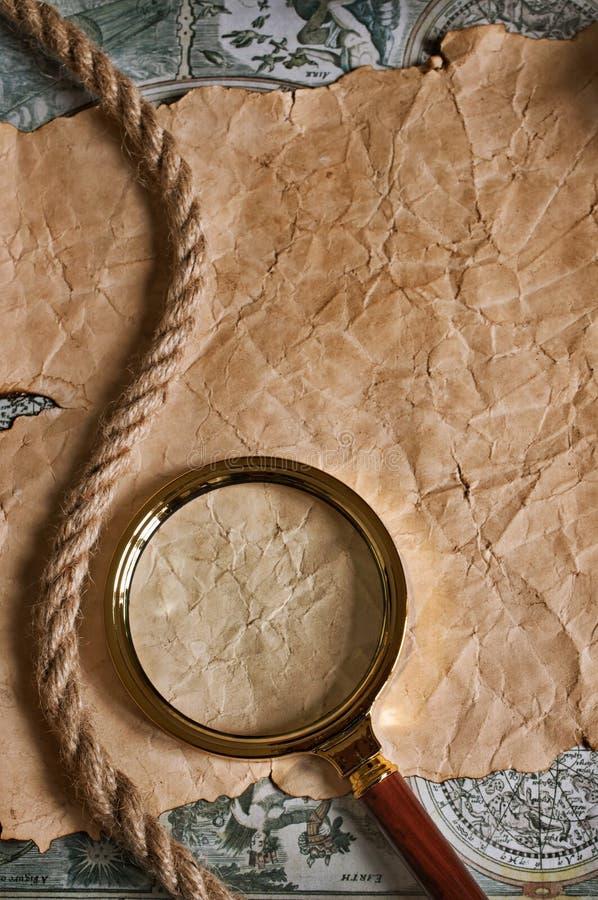 Латунная лупа стоковое фото