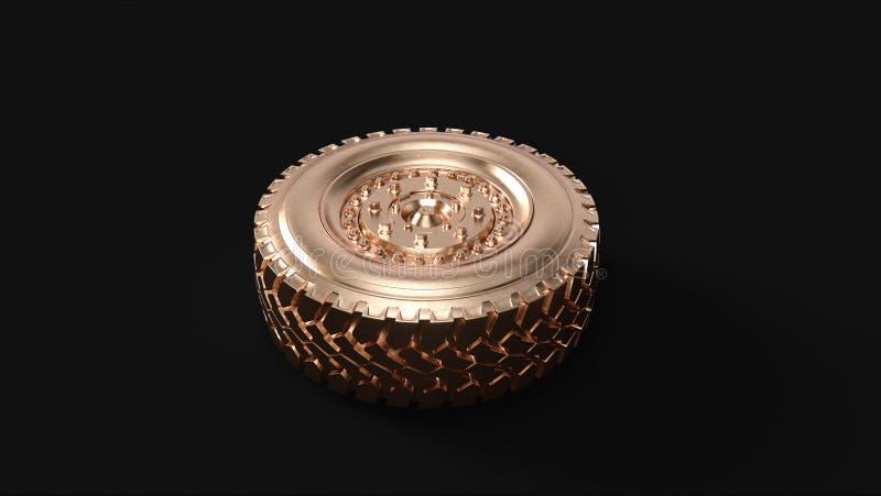 Латунное колесо тележки стоковые изображения