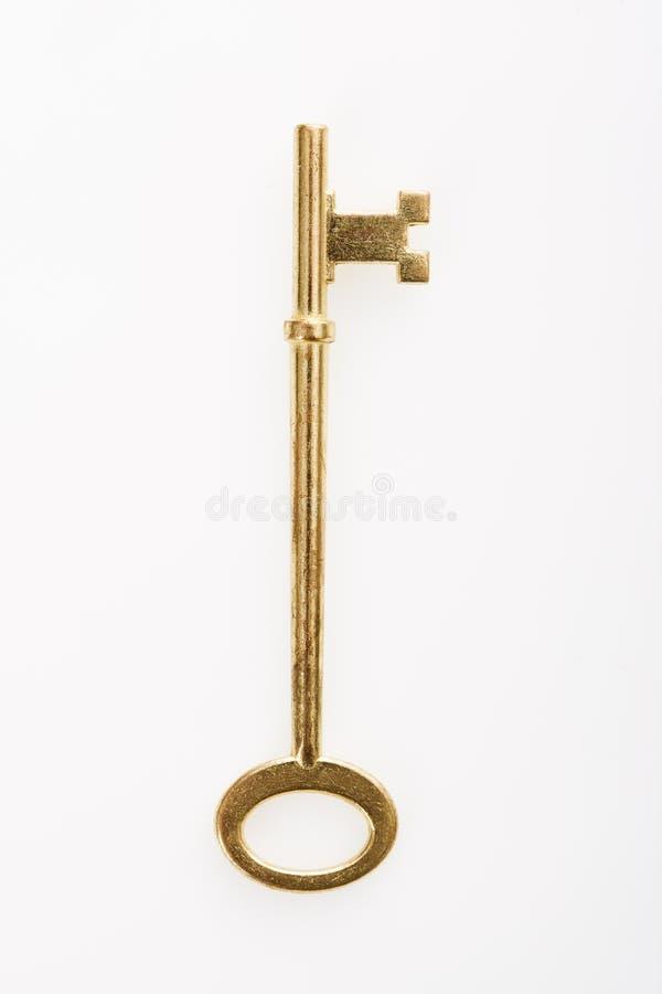 латунный ключ стоковые изображения
