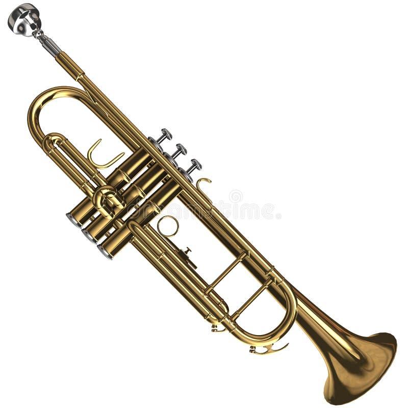 латунный trumpet иллюстрация штока