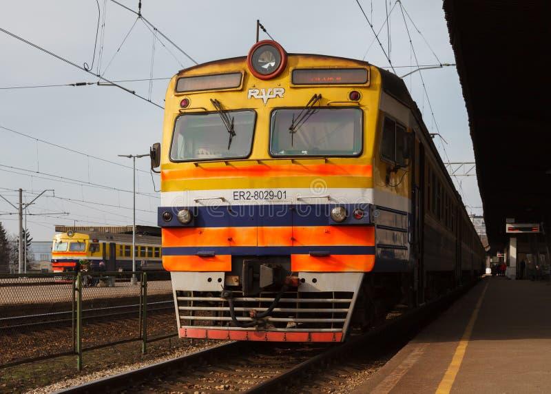 Латышские железные дороги стоковое фото rf
