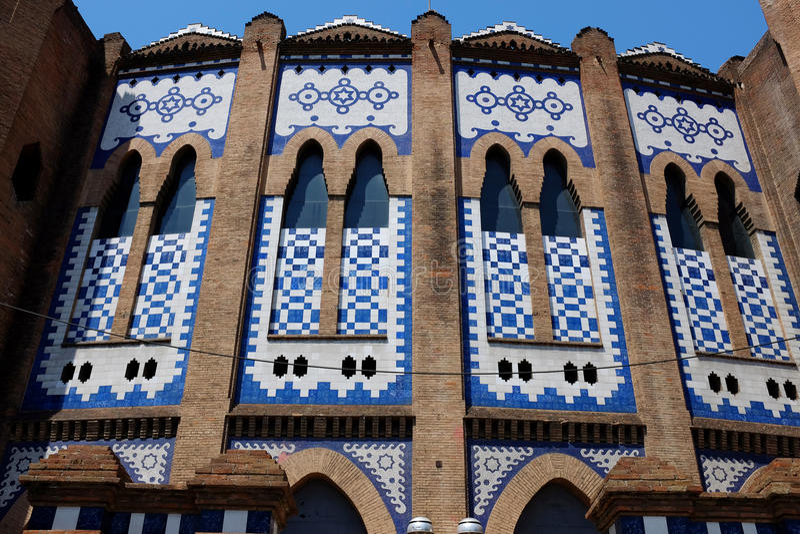 Ла монументальная - арена боя быков - Барселона стоковое фото rf