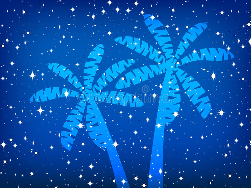 Ладони и звезды Предпосылка ночи также вектор иллюстрации притяжки corel иллюстрация штока