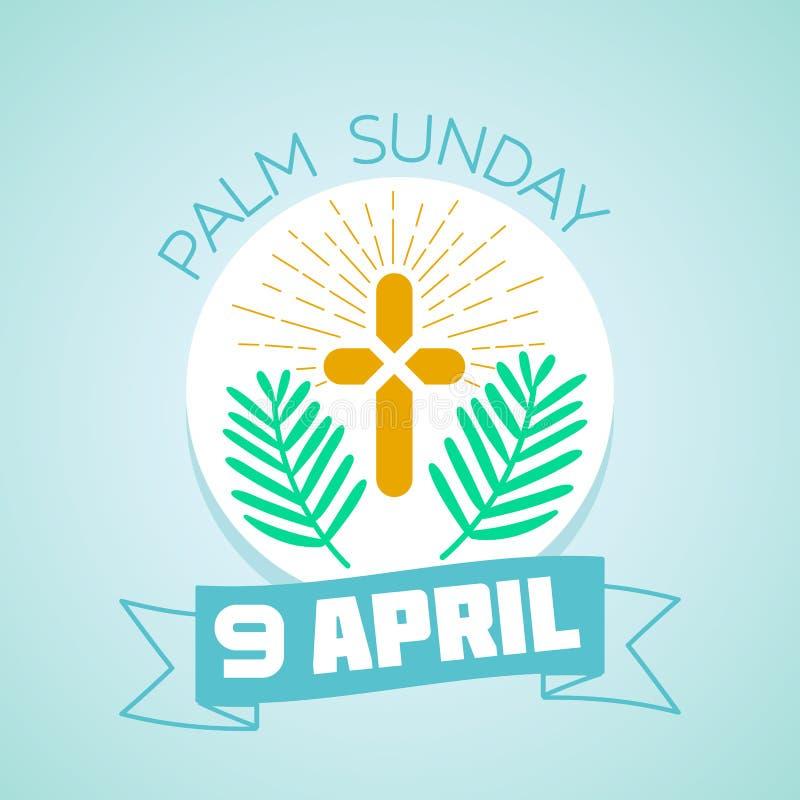 Ладонь воскресенье 9-ое апреля бесплатная иллюстрация