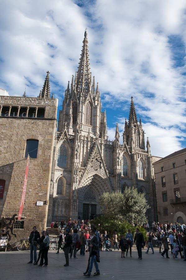 Ла Catedral Del Mar в Барселоне стоковое изображение