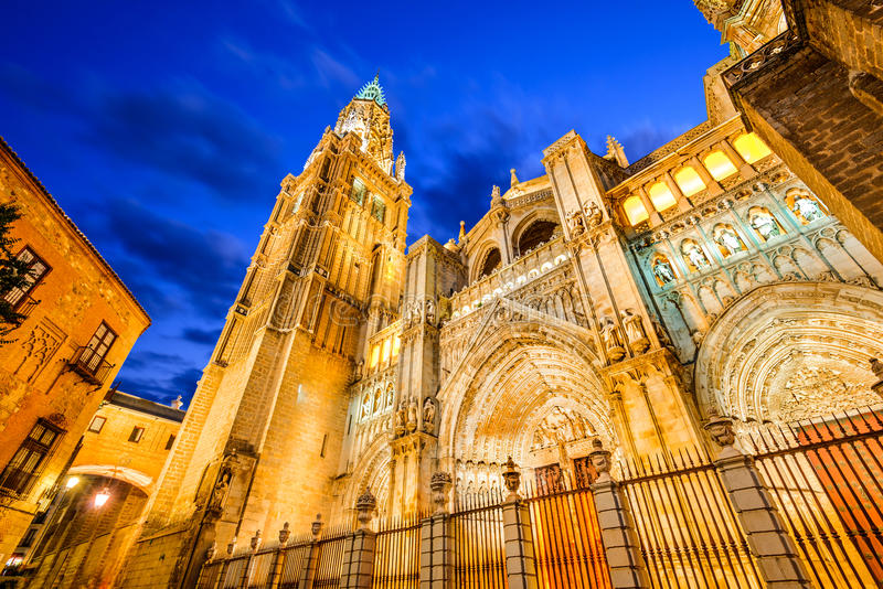 Ла Mancha Toledo, Испании - Кастилии, Catedral Primada стоковые изображения