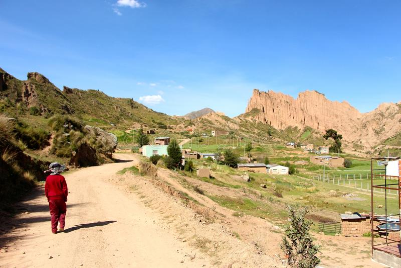 Ла Paz горы зуба дьявола стоковая фотография rf