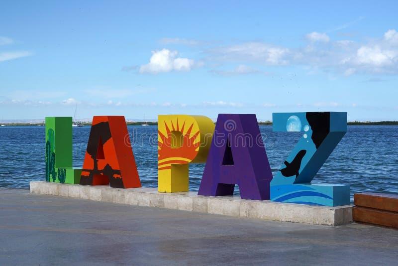 Ла Paz Нижняя Калифорния Sur, мексиканський пляж около прогулки моря вызвало Malecon стоковые изображения rf
