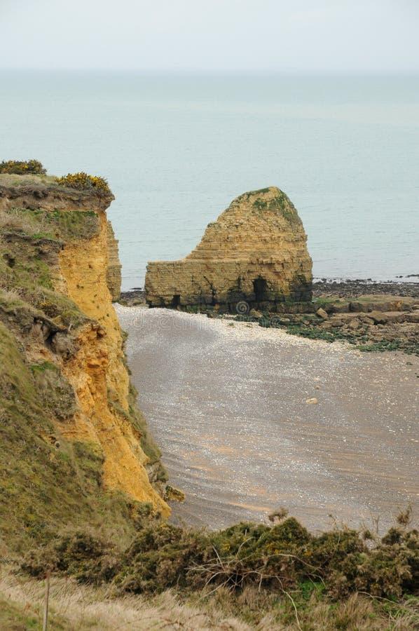 Ла Pointe du Hoc в sur Mer Criqueville в Normandie стоковое фото rf