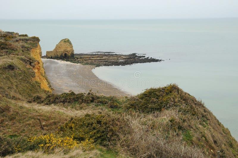 Ла Pointe du Hoc в sur Mer Criqueville в Normandie стоковое изображение rf