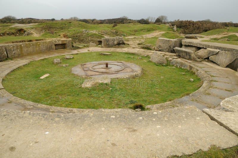 Ла Pointe du Hoc в sur Mer Criqueville в Normandie стоковые изображения