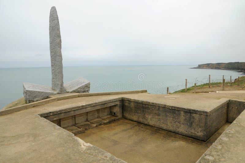 Ла Pointe du Hoc в sur Mer Criqueville в Normandie стоковая фотография rf