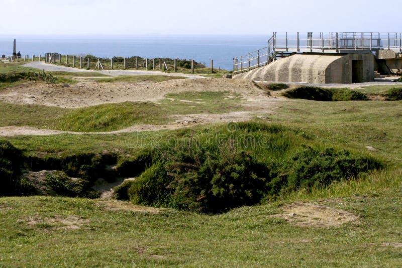 Ла Pointe du Hoc стоковое фото rf