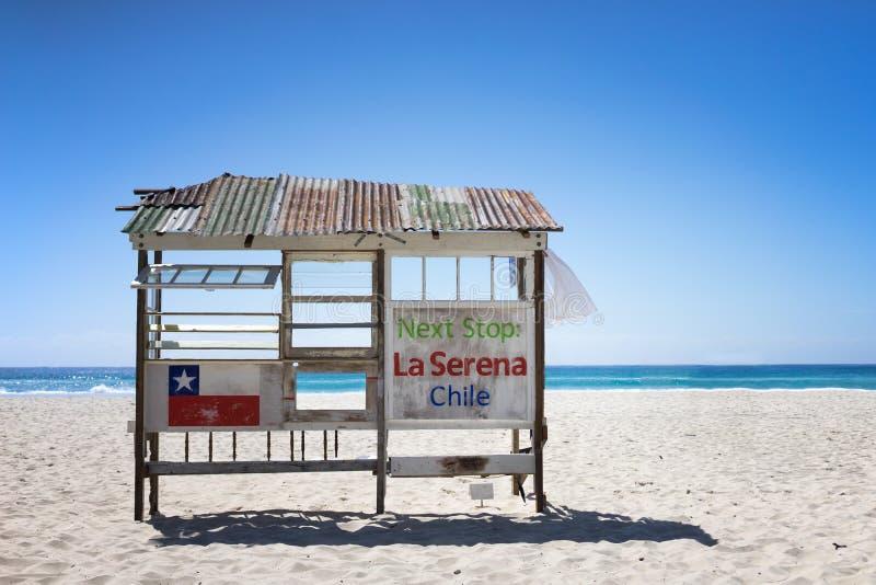 Ла Serena †направления «â€ автобусной остановки «, фестиваль Австралия цацы скульптуры Чили стоковые фото