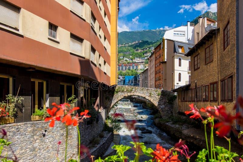 Ла Vella Андорры городское стоковая фотография rf