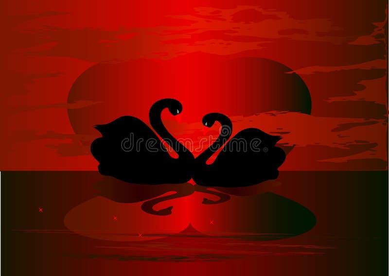 лебеди бесплатная иллюстрация
