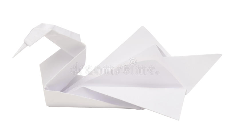 Лебедь Origami стоковое фото rf