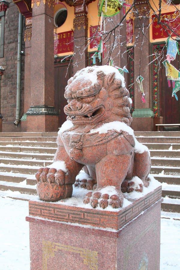Лев Будды стоковая фотография rf