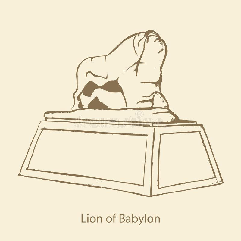 Лев Вавилона иллюстрация штока