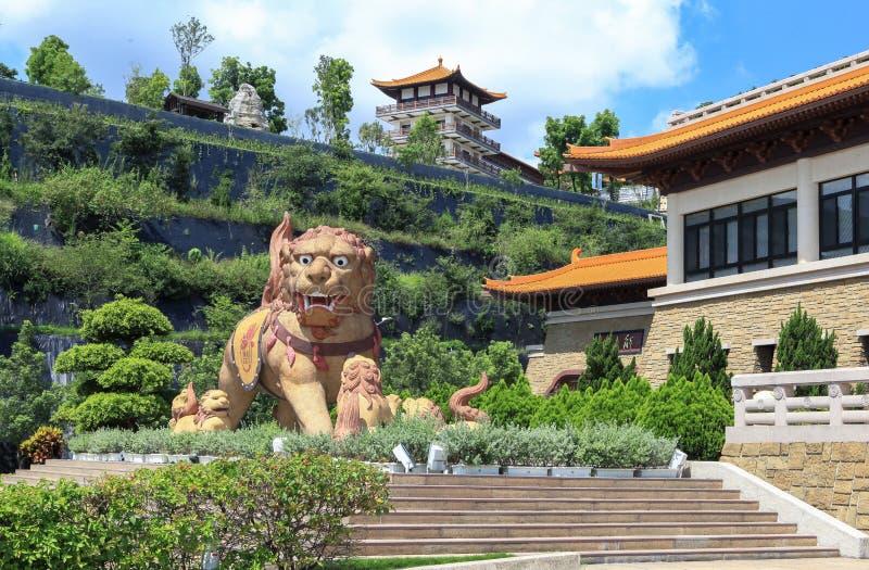 Лев виска в Тайване стоковое фото