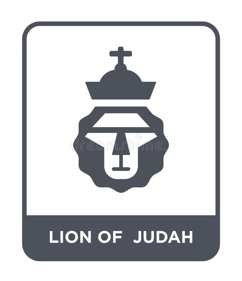 лев значка judah в ультрамодном стиле дизайна лев значка judah изолированный на белой предпосылке лев значка вектора judah просто бесплатная иллюстрация