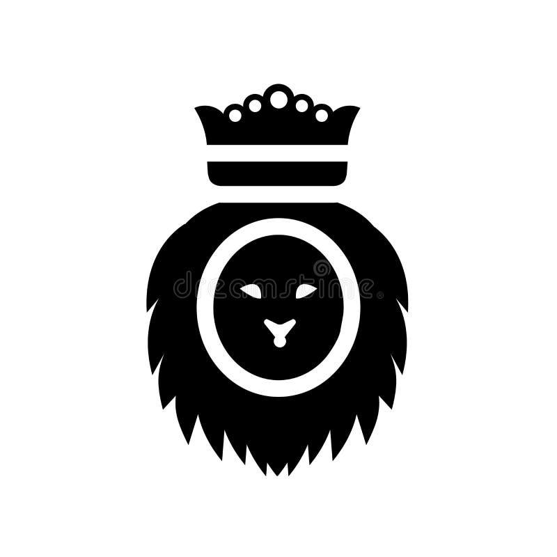 Лев значка Judah  иллюстрация вектора