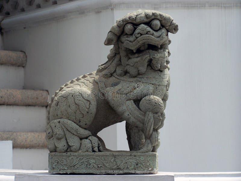 Лев попечителя виска стоковые фотографии rf