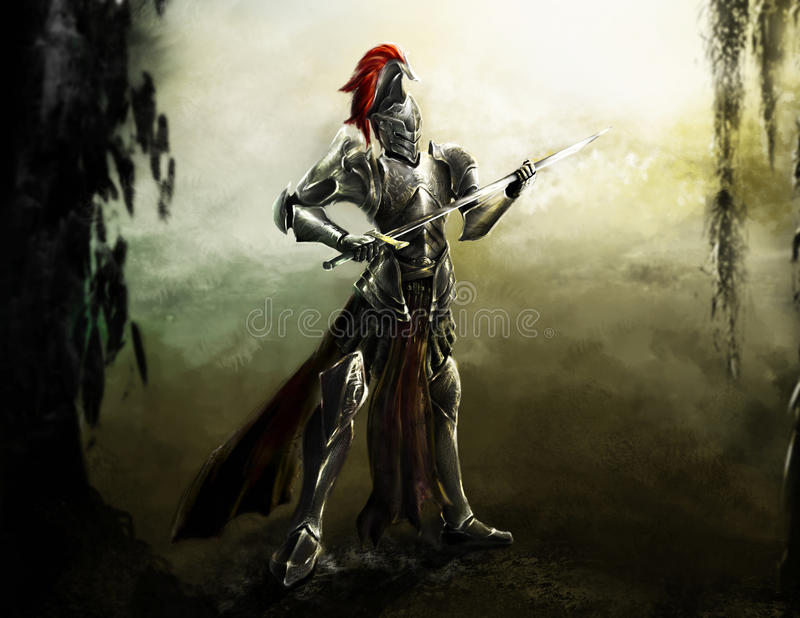 легион рыцаря иллюстрация вектора