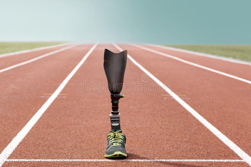 Легкая атлетика протеза атлетических спорт стоящая стоковые фото