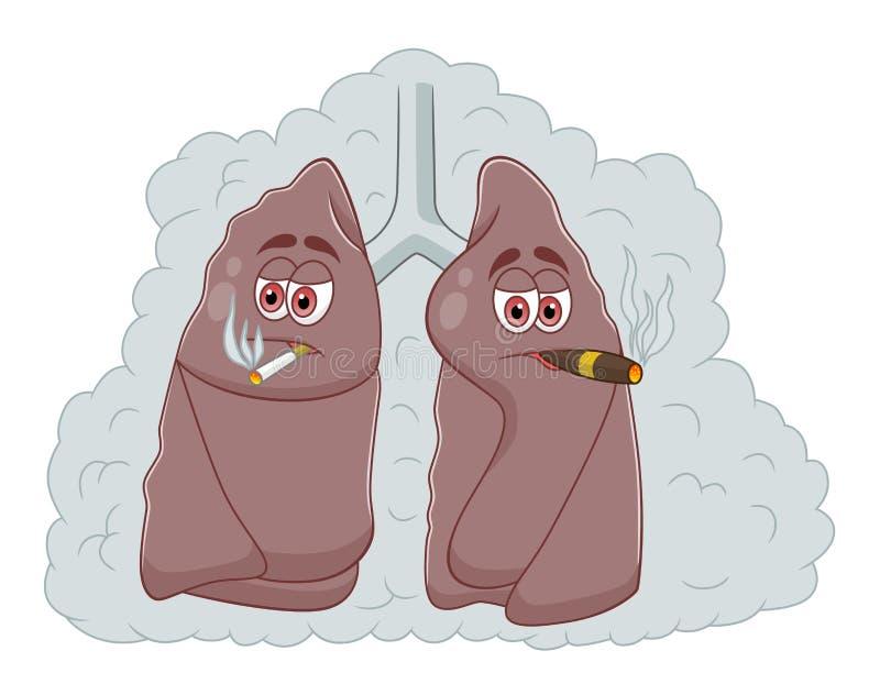 Легкие ` s курильщика иллюстрация штока