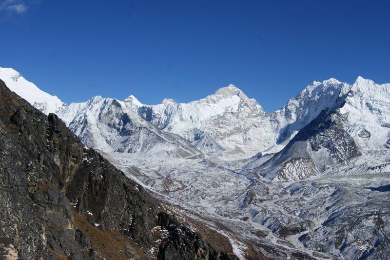 Ледники в Непале стоковая фотография rf