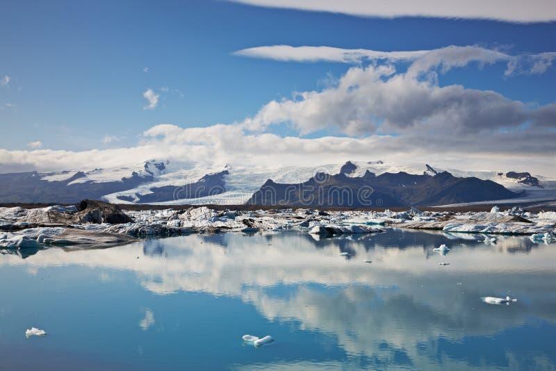 ледниковая лагуна jokulsarlon стоковое изображение rf