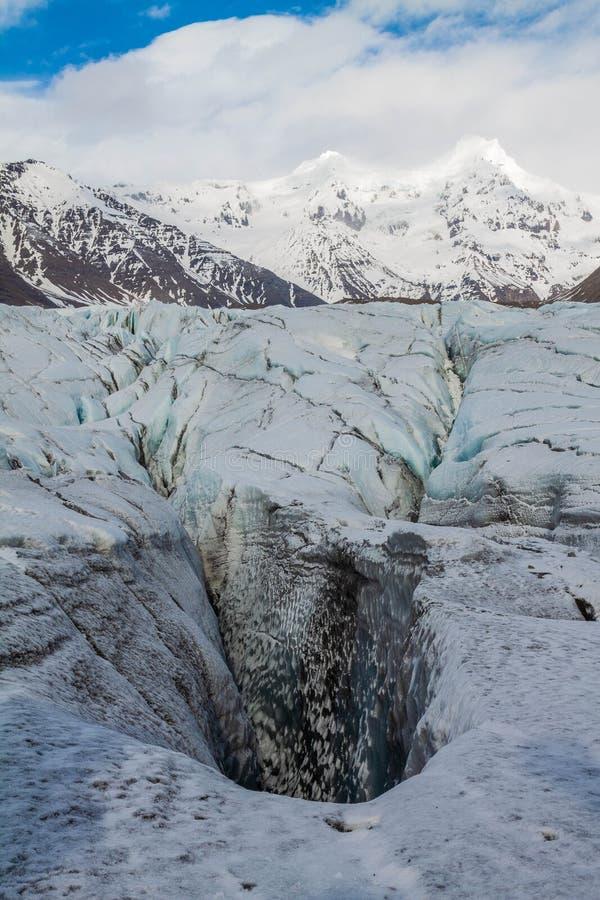 Ледник Исландии стоковые фотографии rf