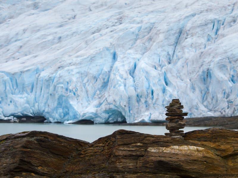 ледник Норвегия svartisen стоковая фотография rf