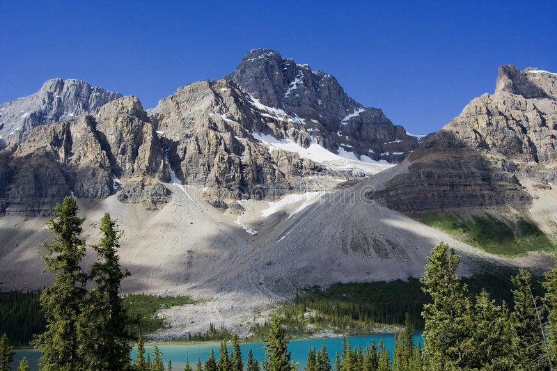 ледник crowfoot стоковое фото
