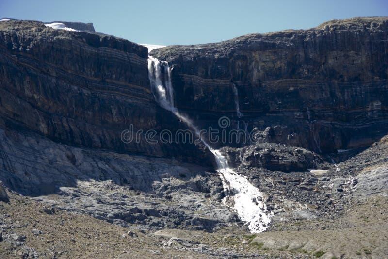 ледник rockies канадских падений смычка стоковые изображения