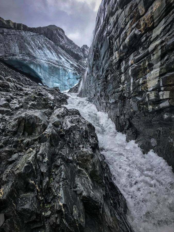 Ледник Worthington, Аляска стоковые фото
