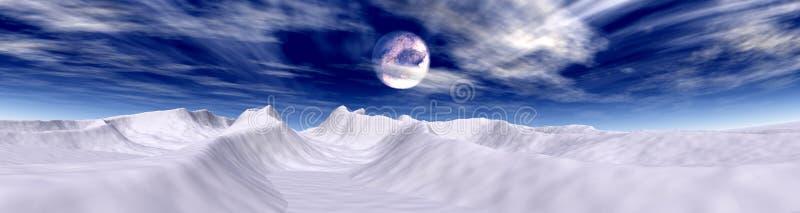 ледовитая луна иллюстрация штока
