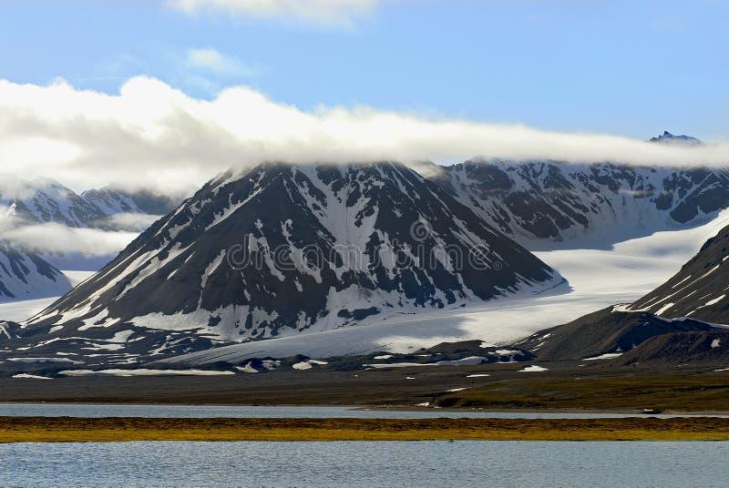 Ледовитый ландшафт тундры в Spitzb стоковое изображение rf
