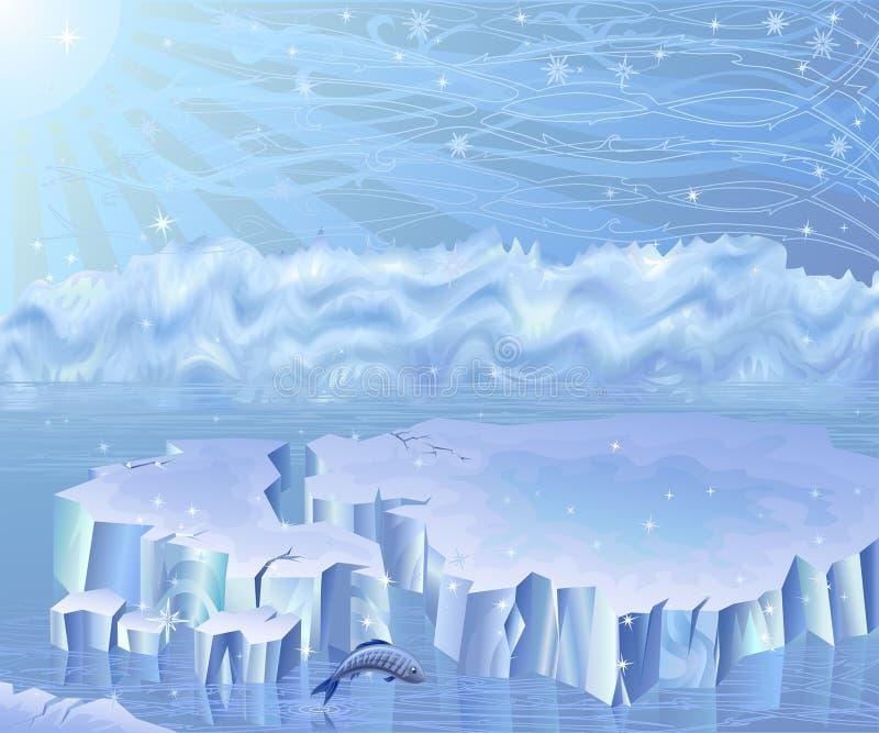 ледовитый ландшафт иллюстрация штока