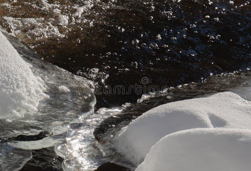 Ледяной зимы реки конец вверх стоковые изображения