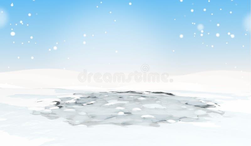 Лед 3d-illustration сломленных или melt иллюстрация штока