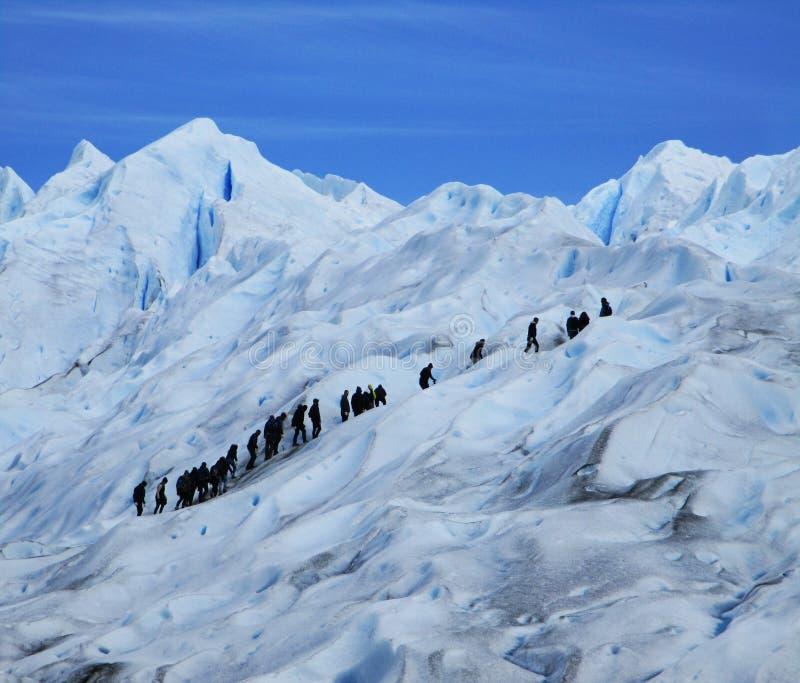 Лед Glaciar Perito Moreno большой & мини пешие путешествия, Santa Cruz Аргентина стоковые изображения