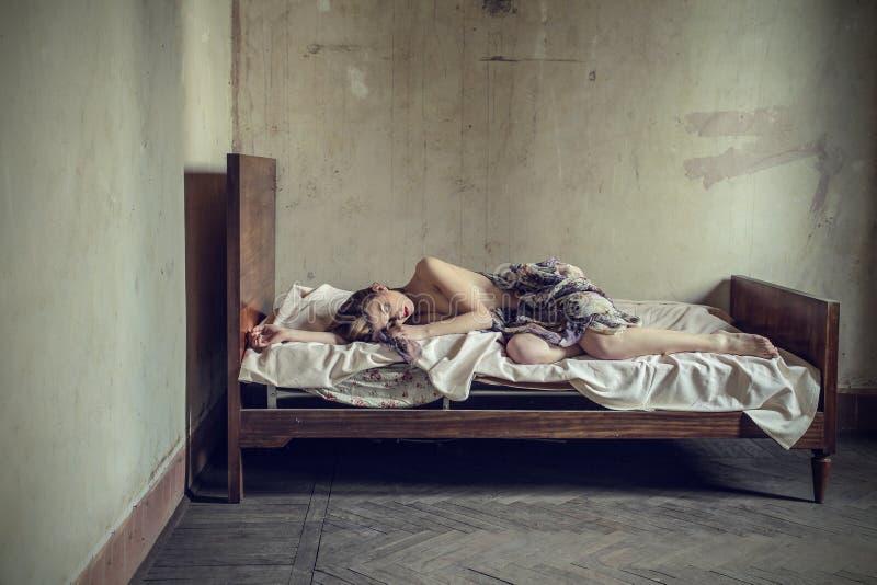 Лежа мечты стоковое изображение